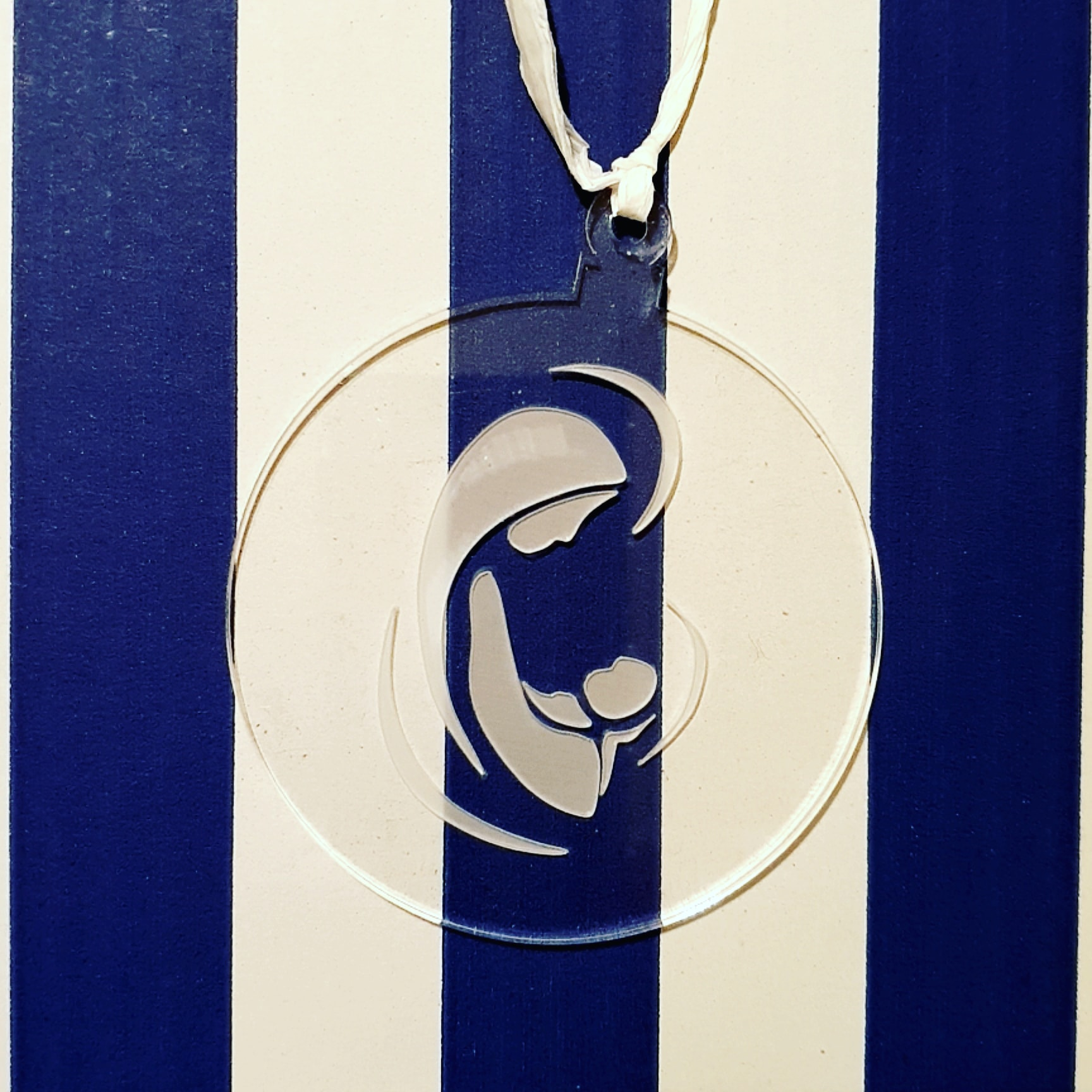 médaille de berceau cristal