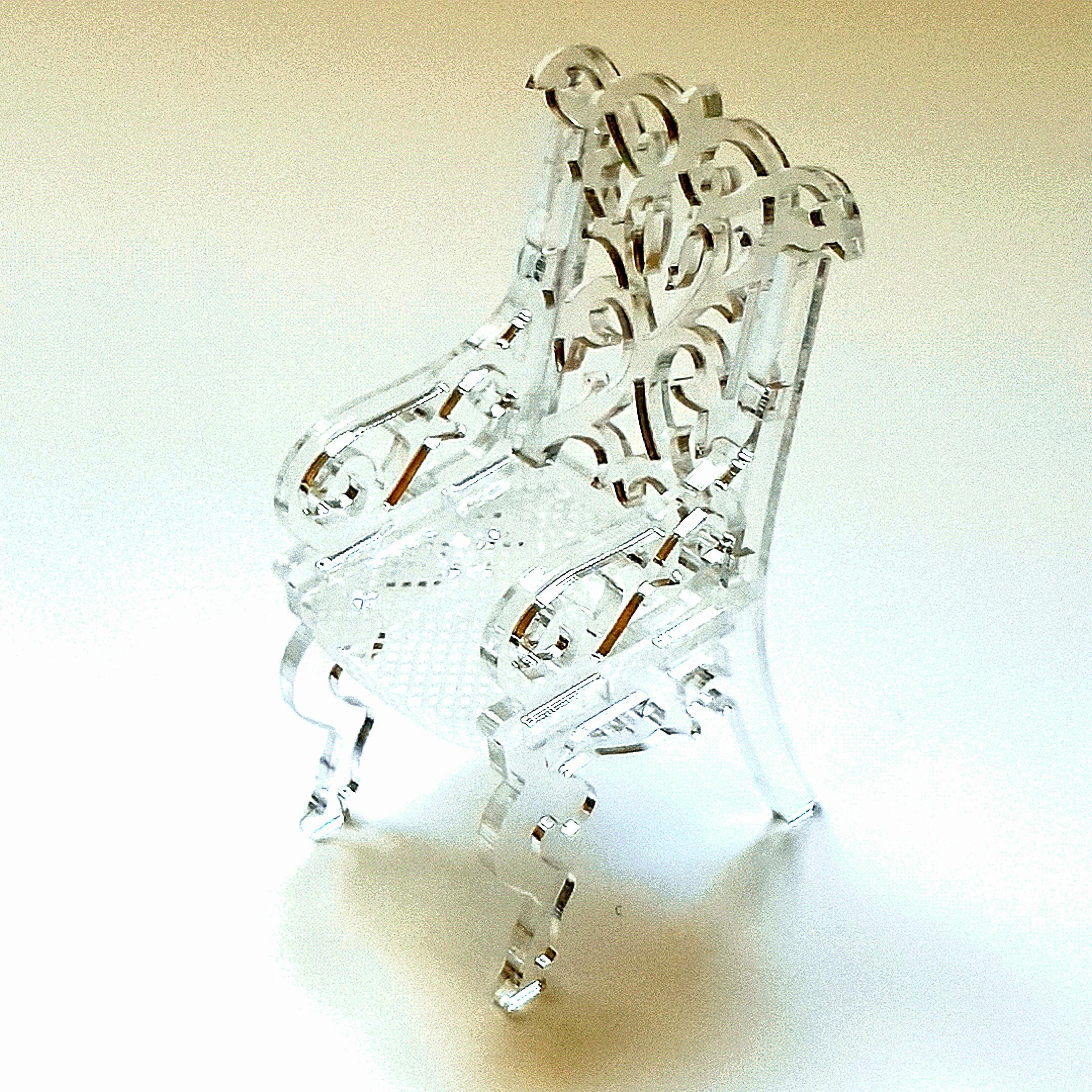 Fauteuil miniature cristal