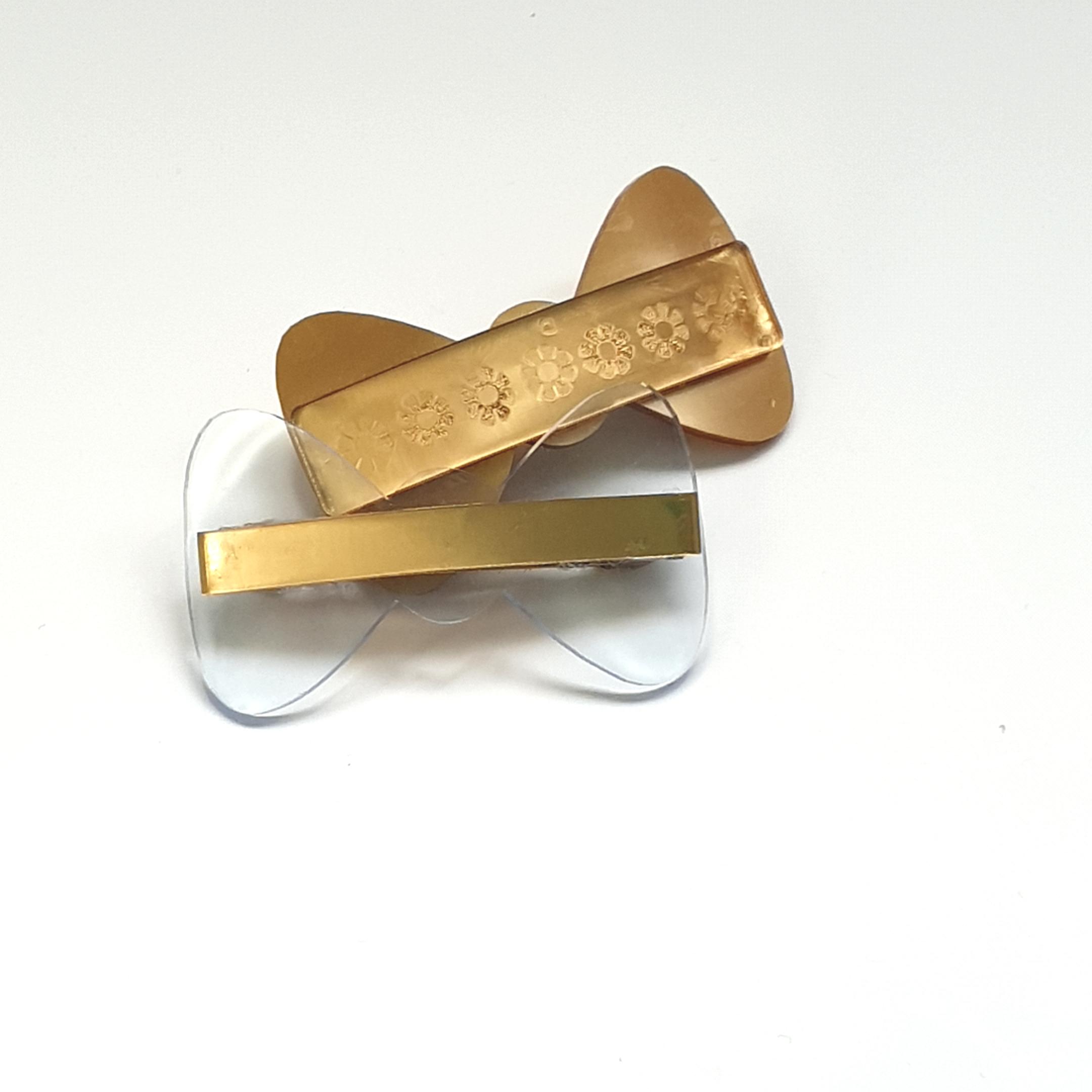 Barrettes noeud cristal d'esquermoise