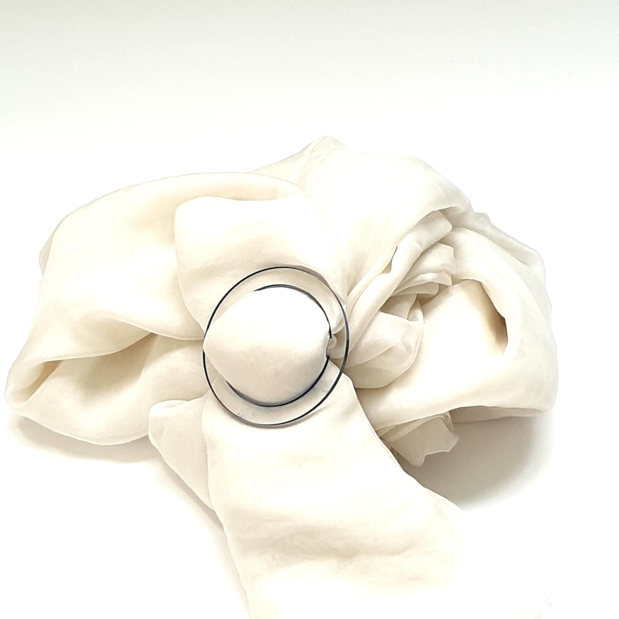 boucle de foulard, cristal d'esquermoise