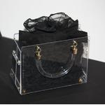 Sac à main lady bag, cristal LISA roses noires
