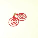 boucles rose cristal