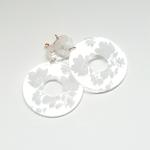 boucles doreille cristal en dentelle blanche