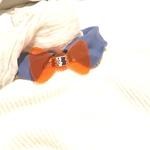 noeud pap cristal géometrique orange fluo