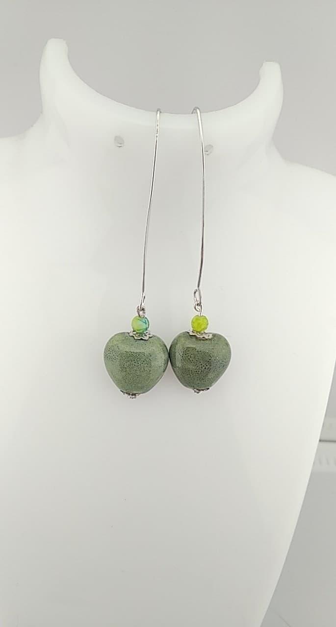 Boucles d\'oreilles Perles céramique