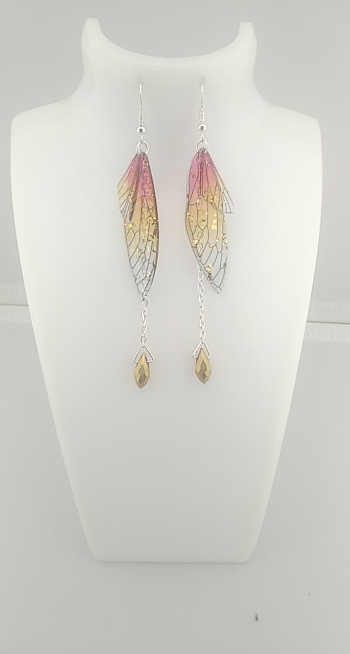 Boucles d\'oreilles papillons feu