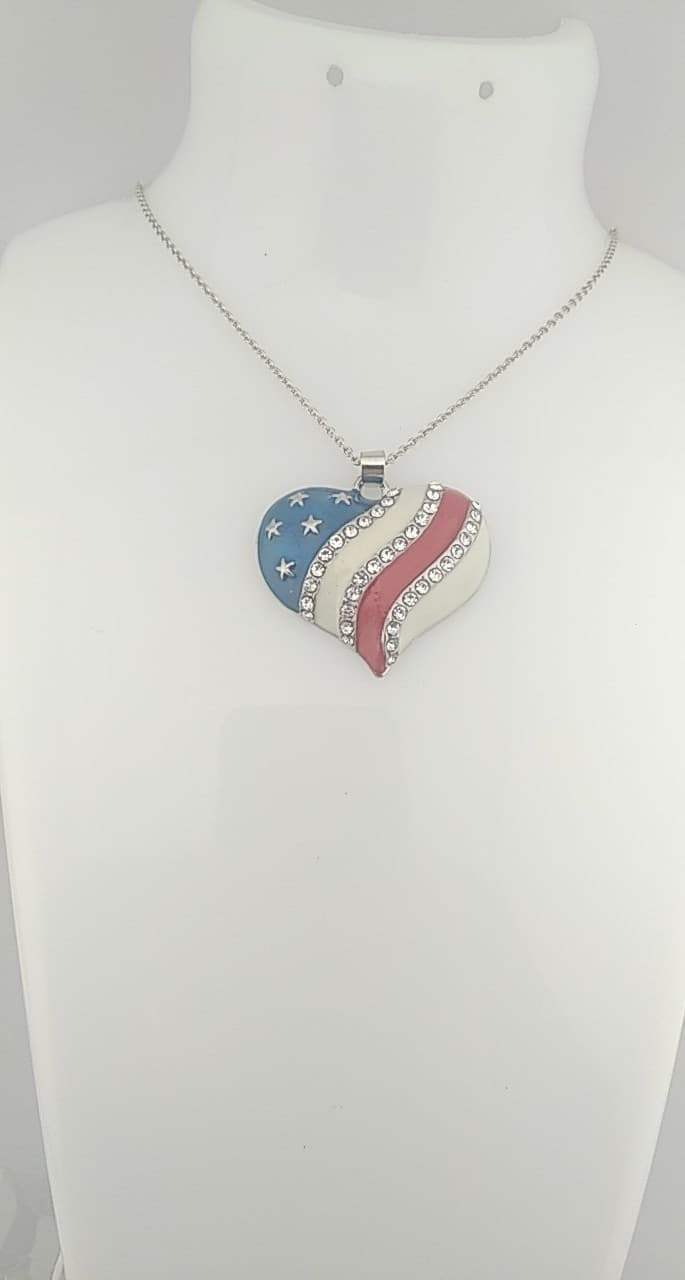 Pendentif cœur Américain