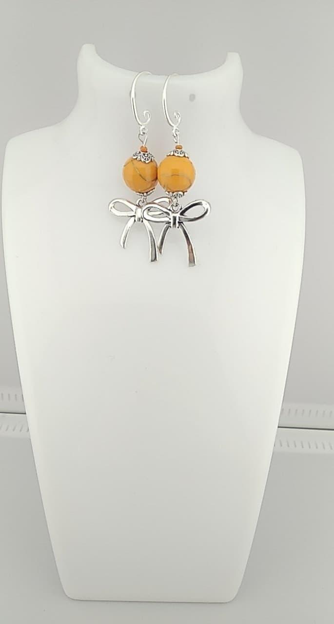 Boucles d\'oreilles parles orange