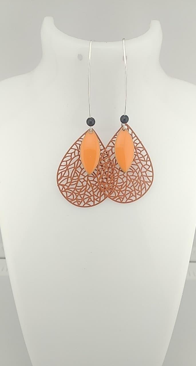 Boucles d\'oreille Orange