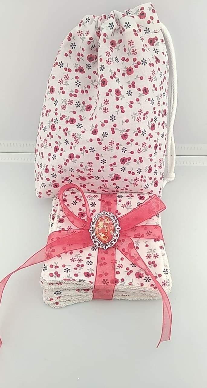 Lingettes lavables avec Pochettes en tissus coton