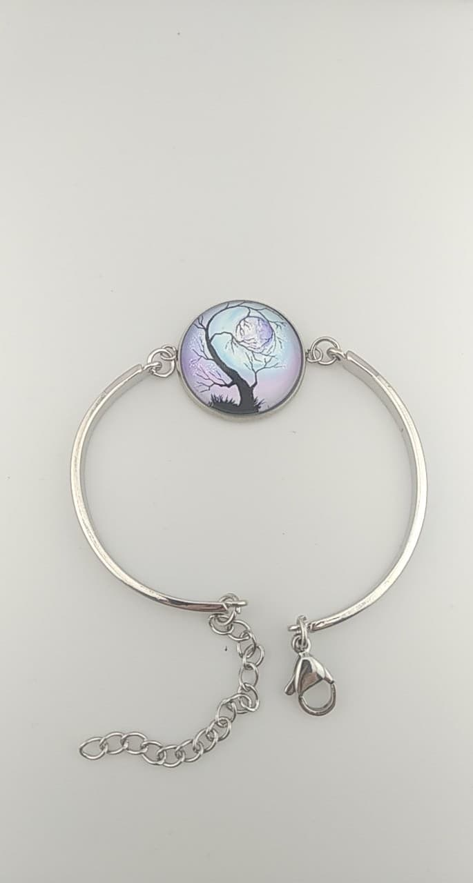 bracelet cabochon arbre de vie