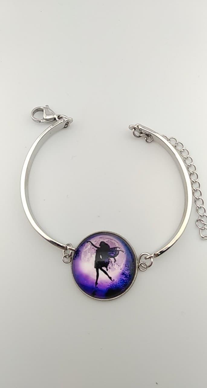 Bracelet cabochon fée