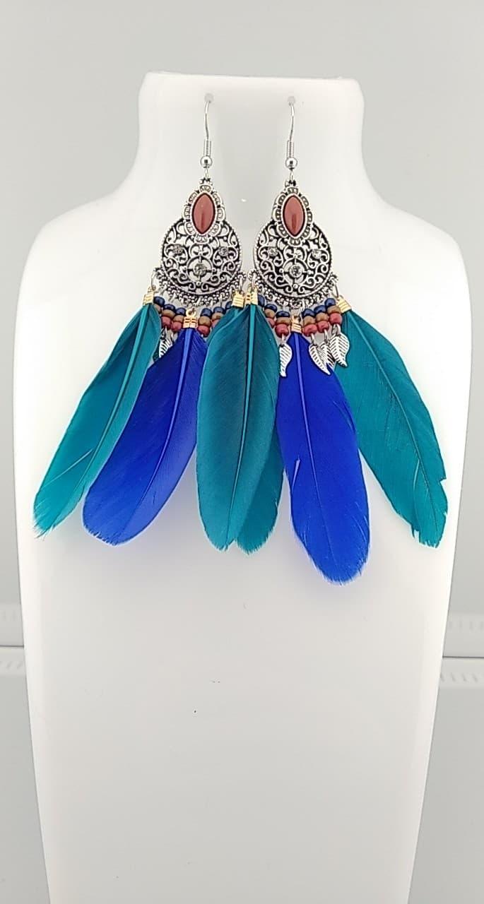 Boucles d\'oreilles plumes