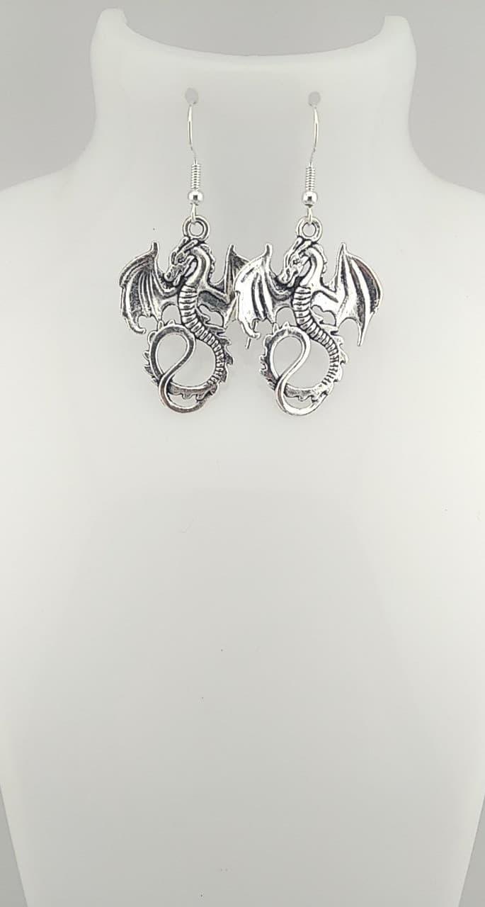 Boucles d\'oreilles dragon