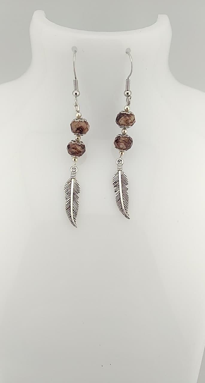Boucles d\'oreilles perles chinoise