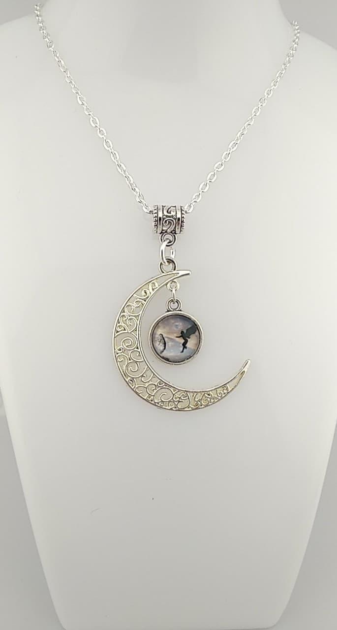 Collier lune fée