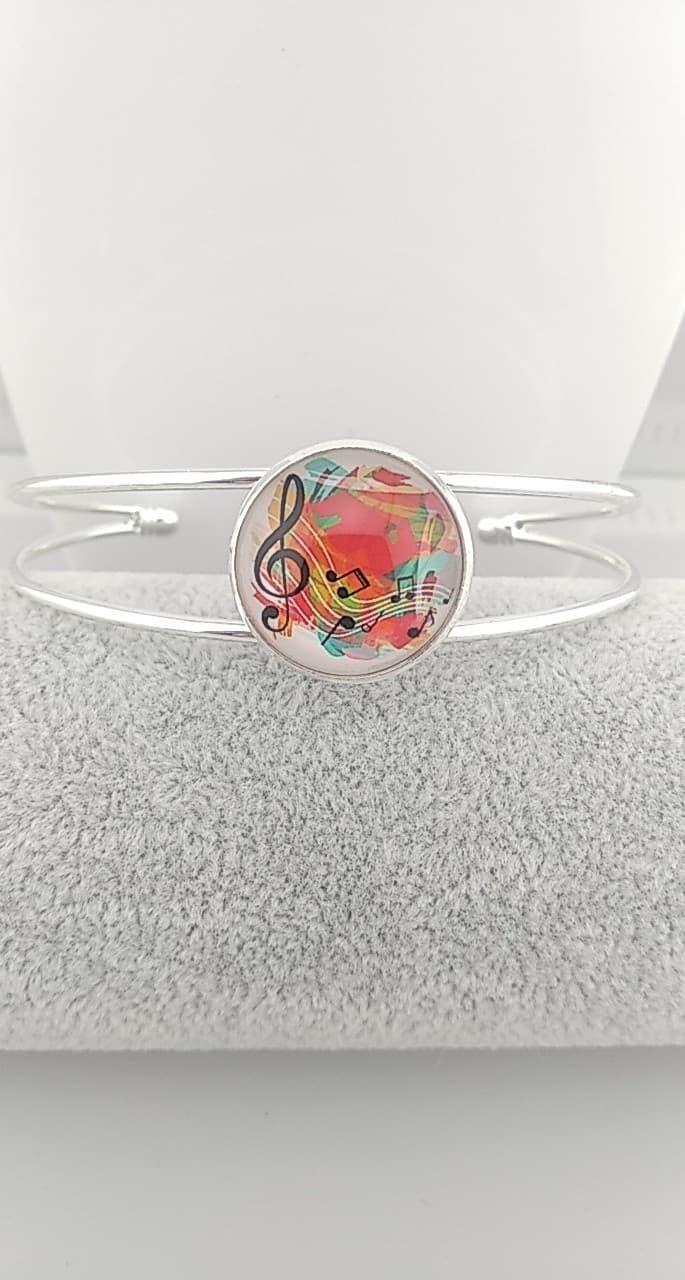 Bracelet cabochon musique