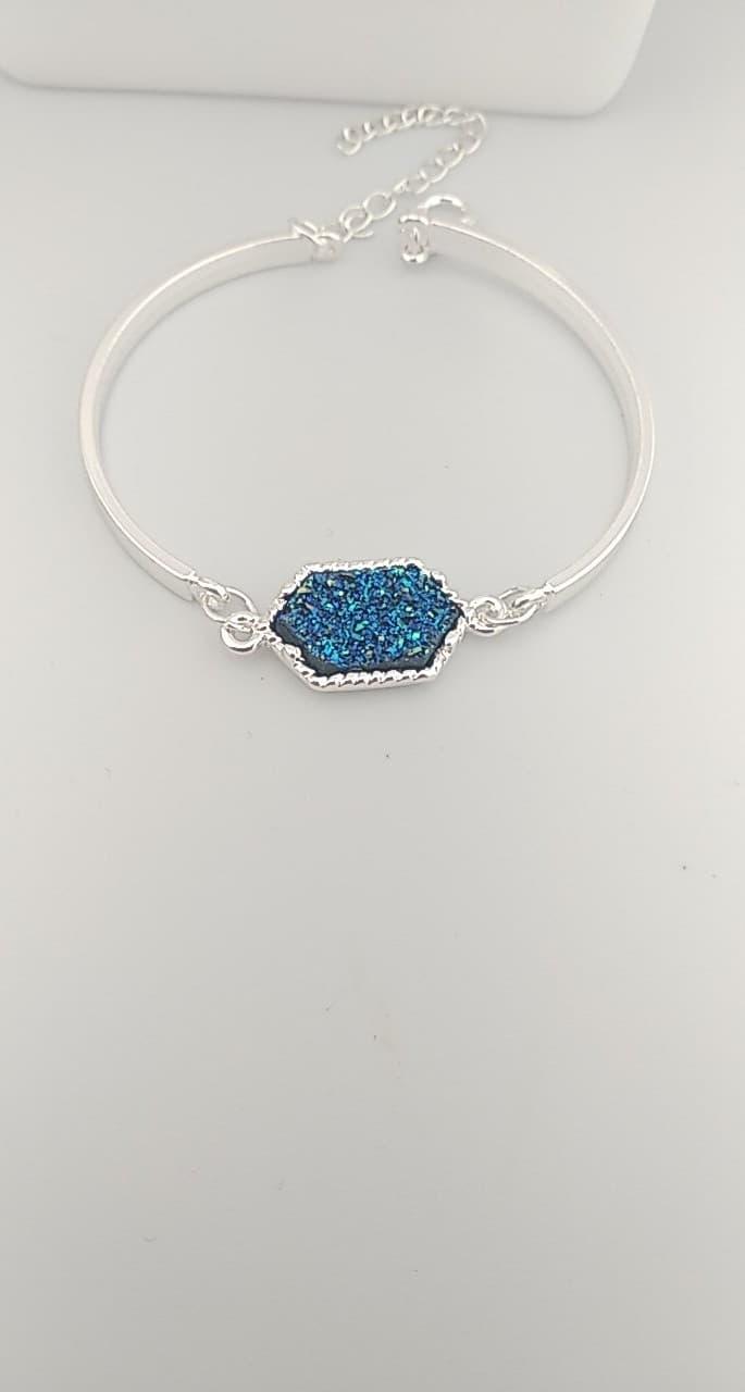 Bracelet cabochon Bleu