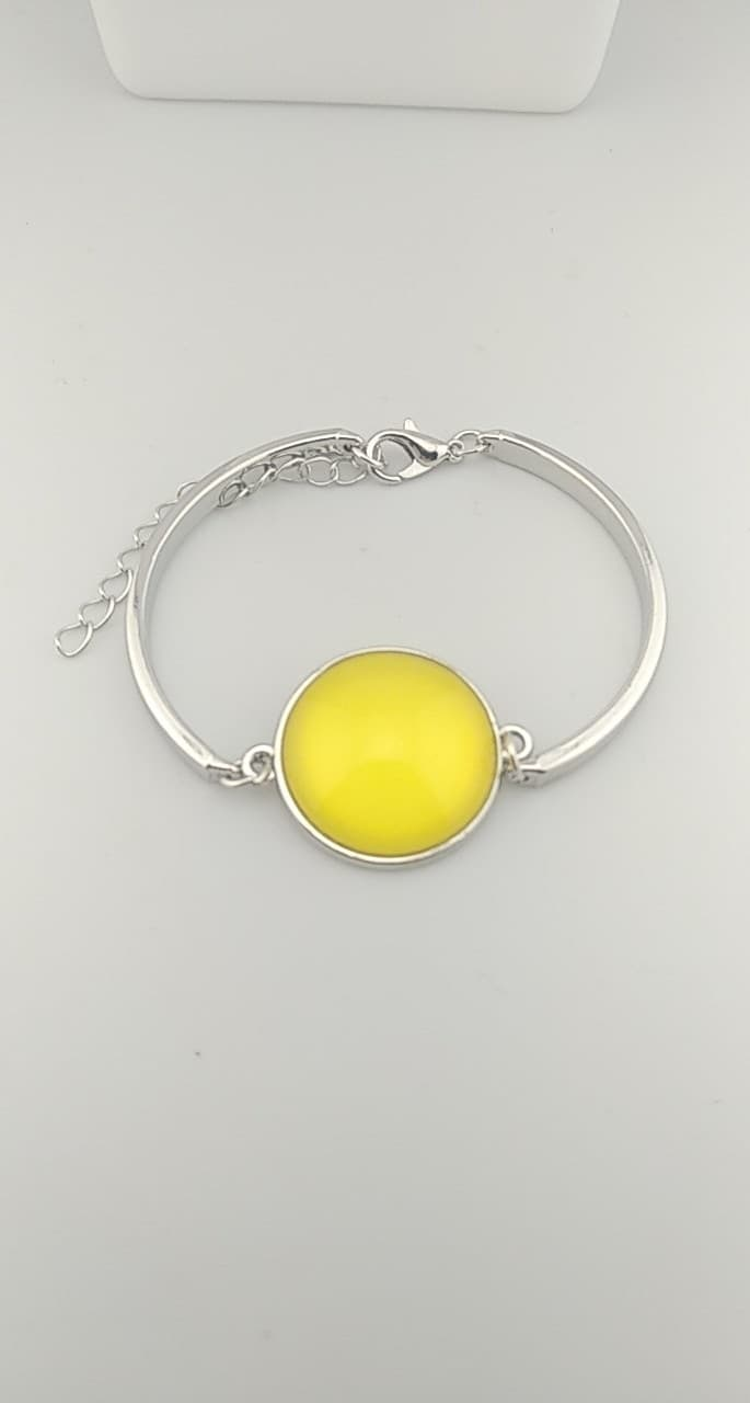 bracelet cabochon jaune