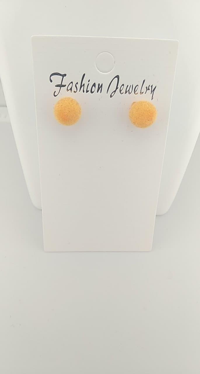 Boucles d\'oreilles pompon orange