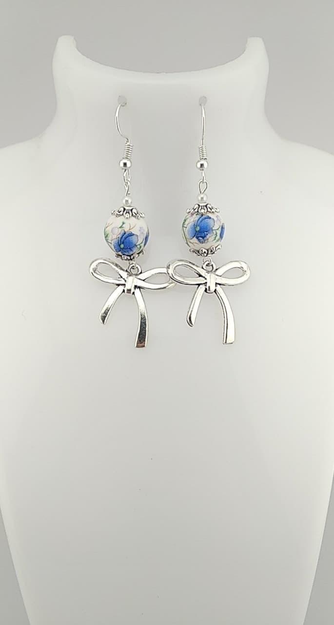 Boucles d\'oreilles perles chinoises