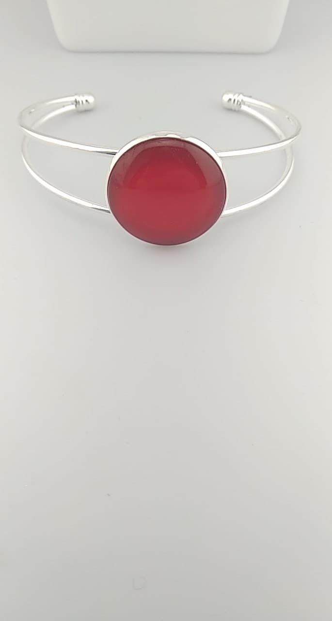 Bracelet cabochon rouge