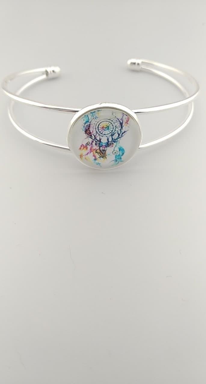 Bracelet cabochon cerf
