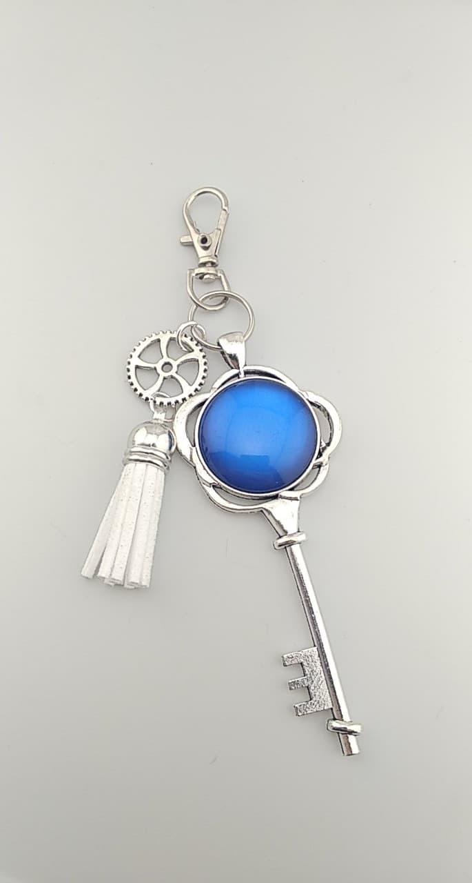 Porte clefs bleu