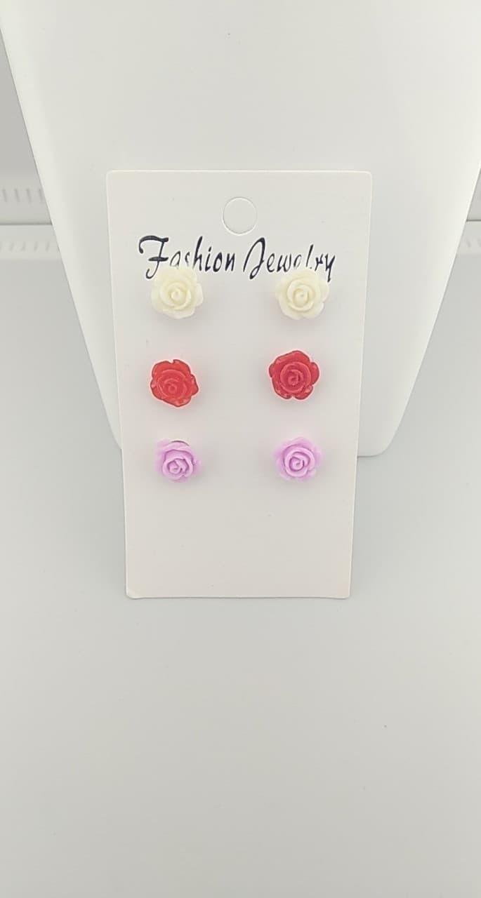 Boucles d\'oreilles fimo ( rose )