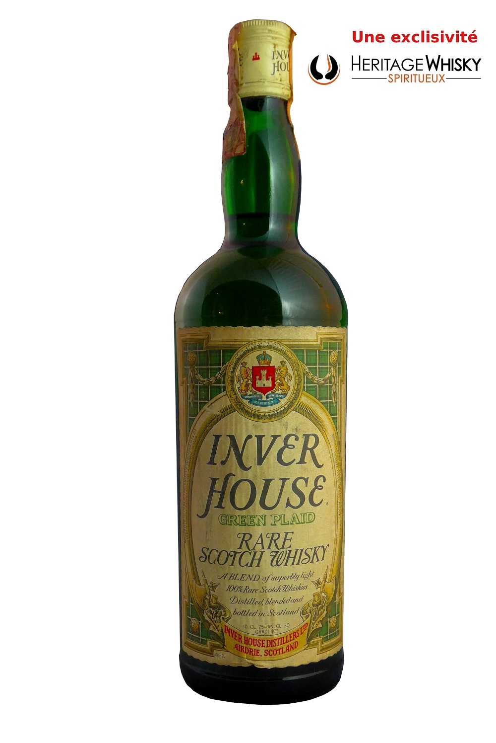 INVER HOUSE Green Plaid Rare Scotch Whisky 40%