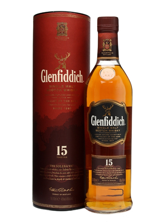 GLENFIDDICH 15 ans Solera 40% | Single Malt Whisky