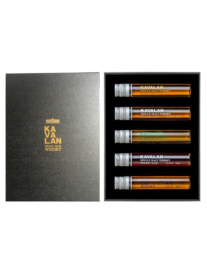 KAVALAN In Tube 5 Mignonnettes x 5 cl 46,8%   Coffret Dégustation Whisky