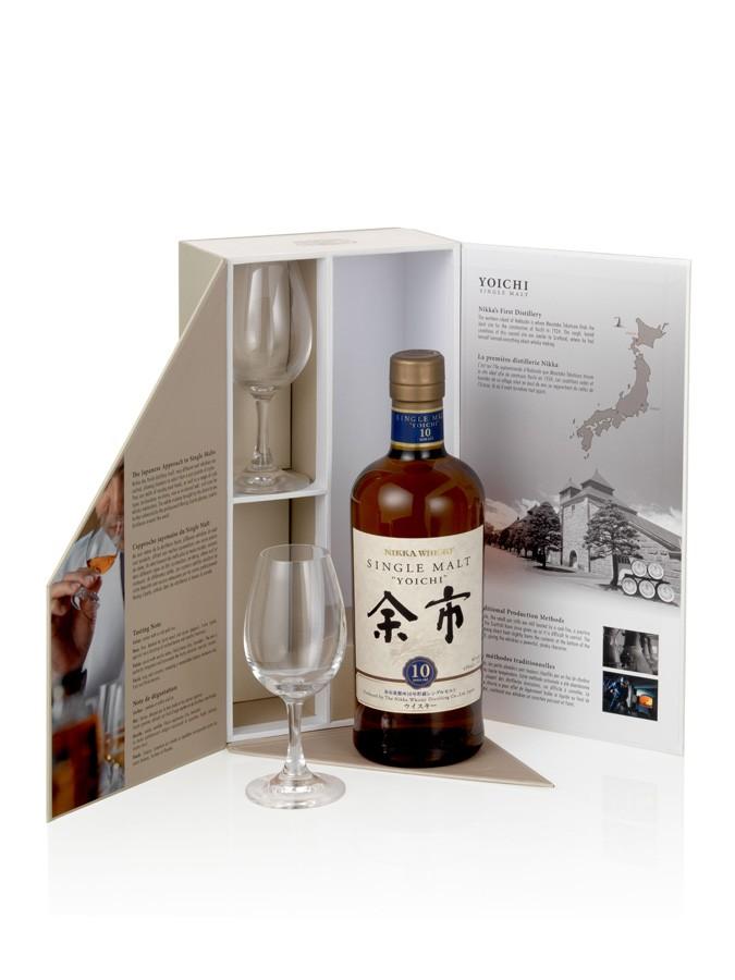 YOICHI 10 ans 2 Verres 45% | Coffret Dégustation Whisky Japonais