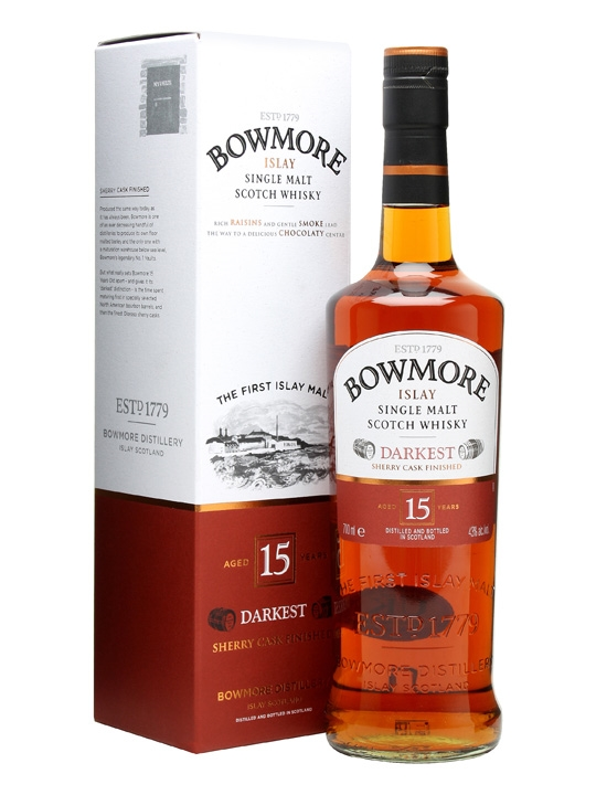 BOWMORE 15 ans Darkest 43% | Single Malt Whisky, Tourbé