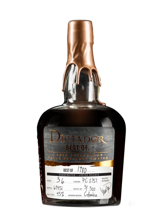 DICTADOR Best Of 1980 Batch 69451 45% | Rhum Colombien