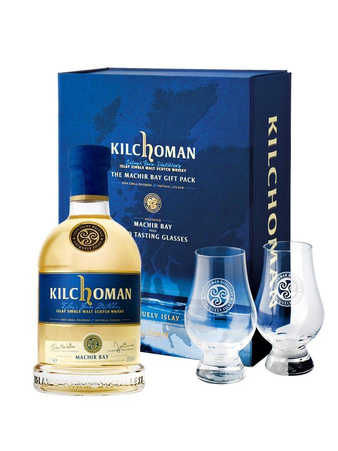 KILCHOMAN MACHIR Bay 46% + 2 verres inclus | Coffret Dégustation Whisky Tourbé