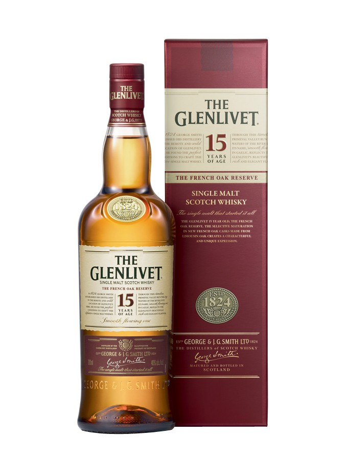 GLENLIVET 15 ans French Oak Reserve 40% | Single Malt Whisky des Speyside