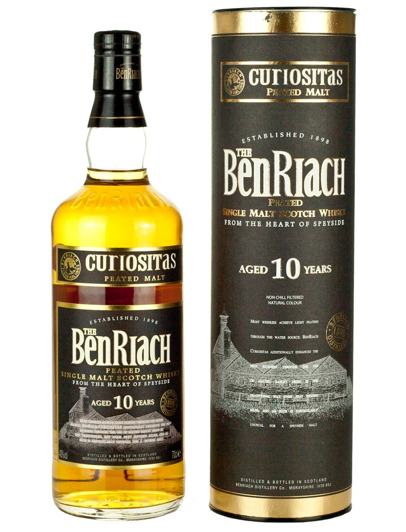 BENRIACH 10 ans Curiositas 46% | Single Malt Whisky Tourbé