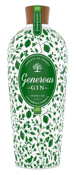 GENEROUS Gin Bio 44% | Gin Artisanal Français