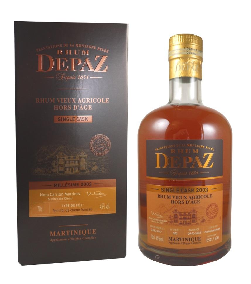 DEPAZ Single Cask 2003 45% | Rhum Vieux Agricole