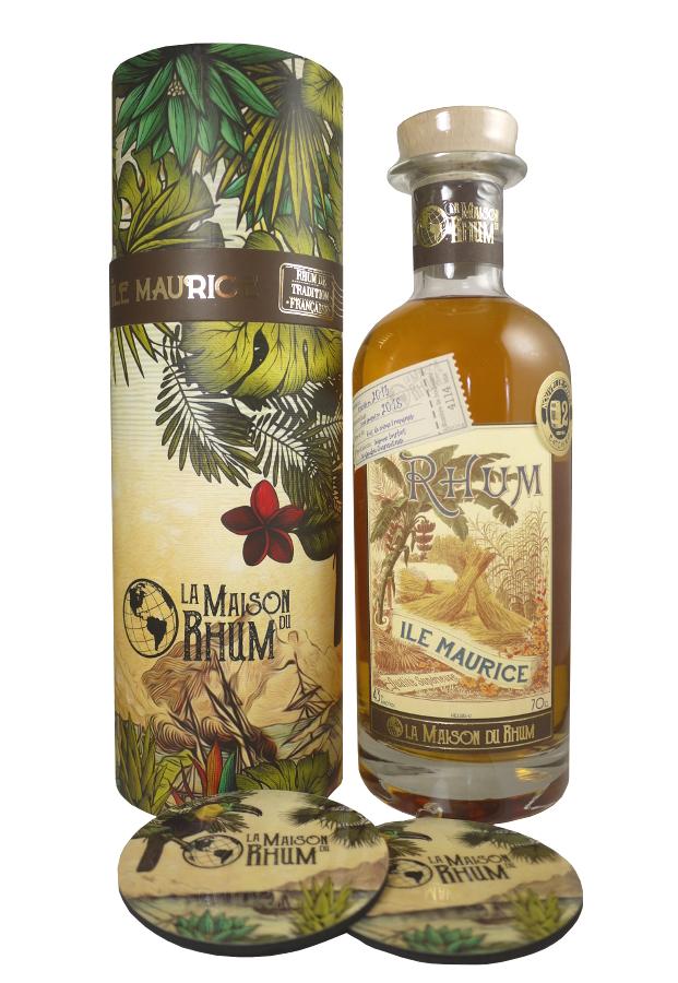 LA MAISON DU RHUM Île Maurice 43% | Distillerie Chamarel | 2 sous-verres inclus
