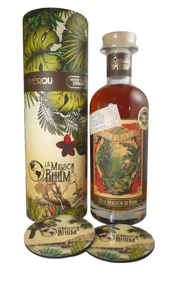 LA MAISON DU RHUM Pérou 45% | Distillerie Millonario | 2 sous-verres inclus