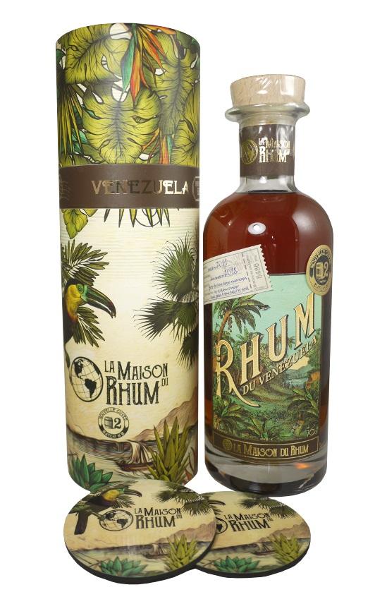 LA MAISON DU RHUM Venezuela 47%| Distillerie Diplomatico | 2 sous-verres inclus