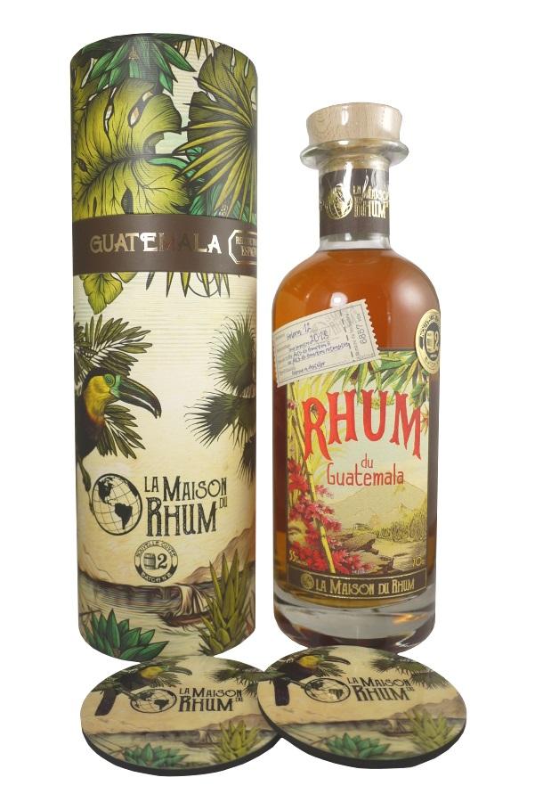LA MAISON DU RHUM Guatemala 55% | Distillerie Botran | 2 sous-verres inclus