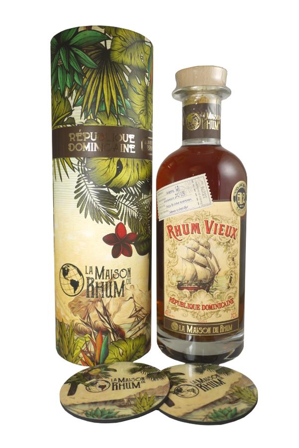 LA MAISON DE RHUM République Dominicaine 42%  | Distillerie Oliver & Oliver | 2 sous-verres inclus