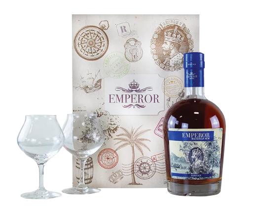 EMPEROR Heritage + 2 verres inclus 40% | Coffret Rhum Dégustation