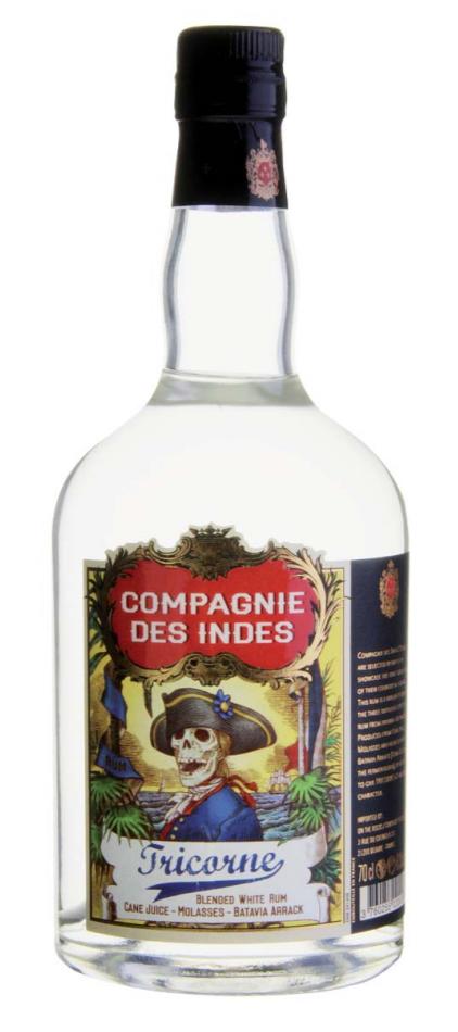 COMPAGNIE DES INDES Tricorne 43% | Rhum Blanc