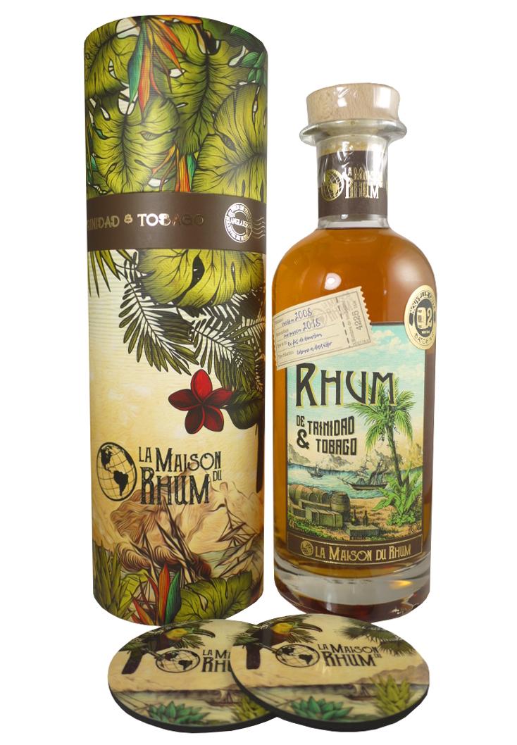 LA MAISON DU RHUM Trinidad et Tobago 44% | Batch N2 | 2 sous-verres inclus