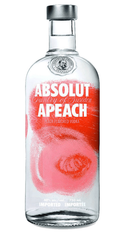 ABSOLUT Apeach 40%  Vodka Aromatisée