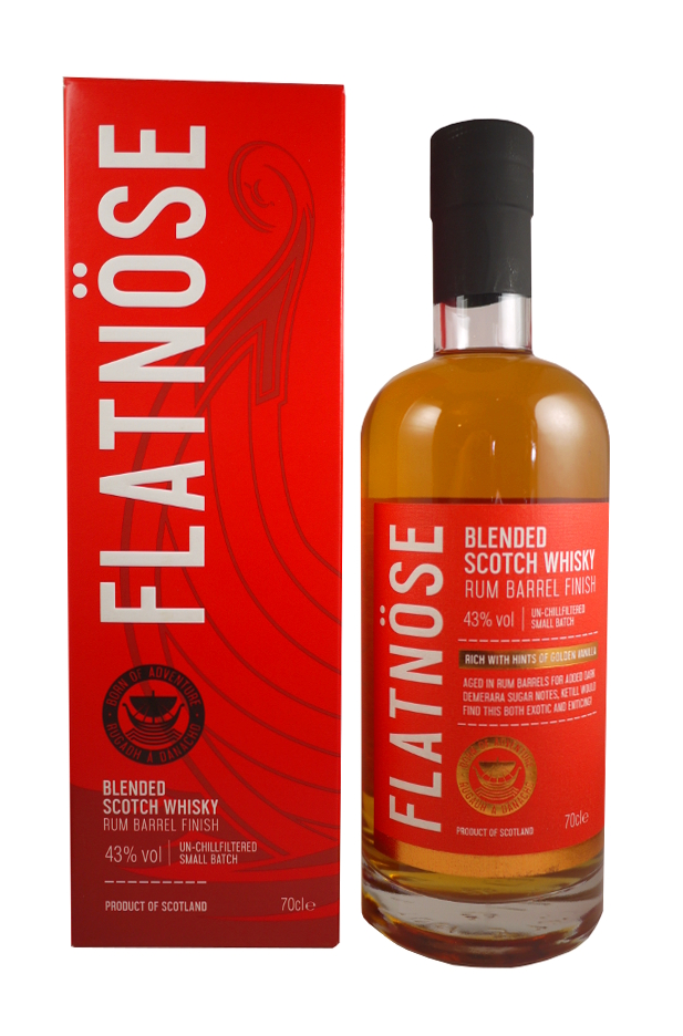 FLATNÖSE Rum barrel finish 43% | Blended Scotch Whisky, Islay